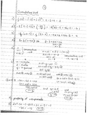 Semester 2 Review Sheet Answers