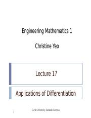 Math 1 lect17 - Applications of Differentiation.ppt
