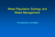 Lecture 09 Weed Ecology 2010