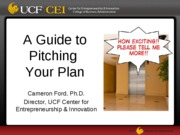 UCF-CEI Guide to Pitching Your Plan