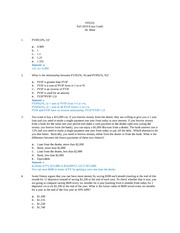 FIN331 2010 Fall Extra Credit Problems Answers