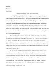 Night Essay.odt - Enc1102 Professor June14,2013 Changes between ...