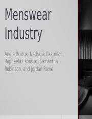 Menswear Industry.pptx