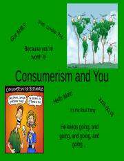 Consumerism and You
