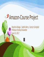Amazon-Course Project Final.pptx