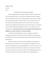 william and kate essay