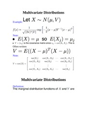 MGMT 1050-Multivariate Distributions