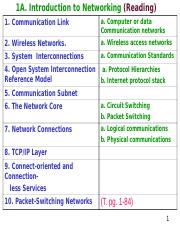 LEC 1A. COMPUTER NETWORKS (READING)
