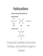 Naming-Hydrocarbons - Naming Hydrocarbons Petroleum or crude oil is ...