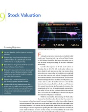 Chapter 9  Stock Valuation