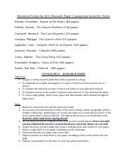 Historical Fiction for 2013 Research Paper PORTER