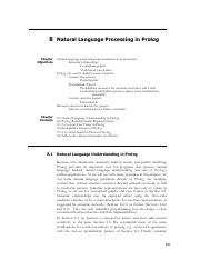 CH8_Natural Language Processing in Prolog