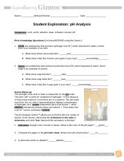 Student Exploration- pH Analysis (ANSWER KEY).docx ...