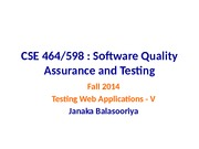W14- WebApplicationTesting_Lecture5