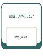 HOW TO WRITE CV.pptx