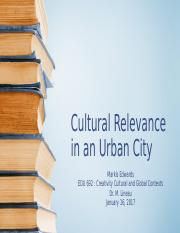 Edwards Cultural Relevance in an Urban City