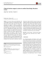 Clinical decision support system in medical knowledge literature review.pdf