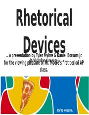 Rhetorical Devices Project