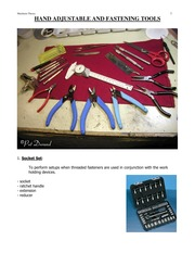 HAND ADJUSTABLE AND FASTENING TOOLS(1)