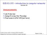 Lecture 16 on Computer Networks