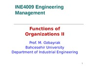L03 Functions of Organizations II