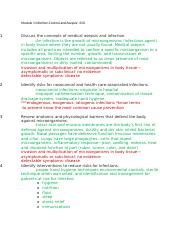Module 1 Infection Control and Asepsis.docx