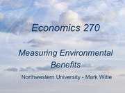 Measuring Environmental Benefits