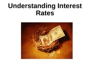 Lecture 4-M&B Understanding Interest Rate-Market for Loanable Funds