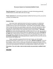 Persuasive genetically modified food paper