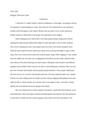Religion- Extra Credit Paper