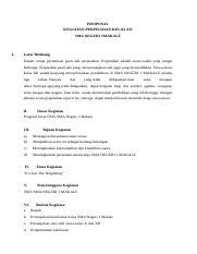 Contoh Proposal Perpisahan Sekolah Docx Proposal Kegiatan Perpisahan Kelas Xii Sma Negeri 1makale I Latar Belakang Dalam Setiap Pertemuan Pasti Ada Course Hero