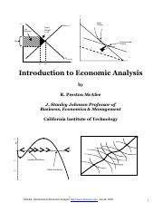 Introducation t Economic Analysis