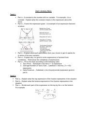 Algebra 2 A Unit 1 Unit  Activity Hints.docx