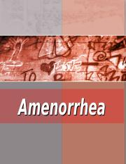 Amenorroea.ppt