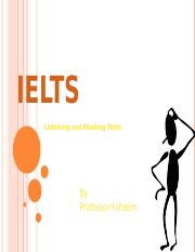 IELTS - How to prepare for listening & reading.ppt