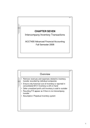 Advanced Financial Accounting Ch7 Lecture Notes