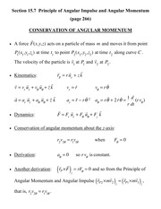 [D]Section 15.7 - Conservation of Angular Momentum - Three-Dimensional Motion