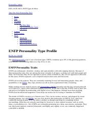 GS 1145 ENFP Personality Type Profile