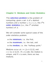 Lecture 7 on Media and Order Statistics