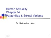 Human Sexuality Chapter 14R