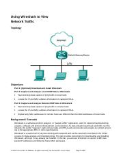 3.3.3.4 Lab - Using Wireshark to View Network Traffic.doc