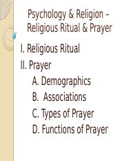 PSY 3310 - 18 - Rituals & Prayer - Instructor.pptx