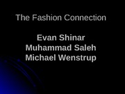 Fashion COnnection powerpoint