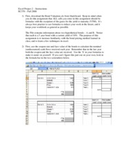Excel Project 2 - Instructions - v2007