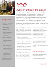 Avaya IP Office in the Branch - Brochure.pdf
