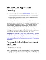The BIOL200 Approach to Learning