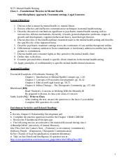 Class 1 – Foundational Theories in Mental Health F13.doc