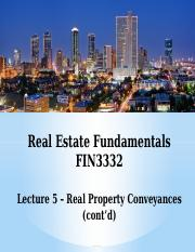 FIN3332-Lecture 5-Real Property Conveyances 2-F16-BB.pptx
