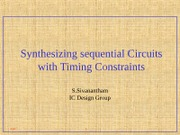 Timingconstraints