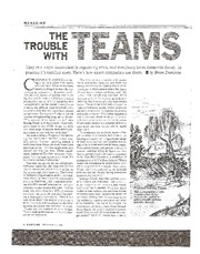 The Trouble With Teams
